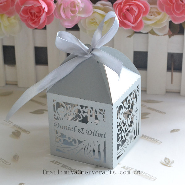 Wedding Gifts From Bride And Groom To Guests : silver paper gift bags for guests,wedding box bride and groom-in Gift ...
