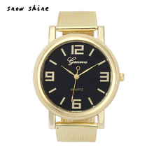 snowshine #10xin    Luxury  Women Stainless Steel Mesh Quartz Wrist Watch  free shipping
