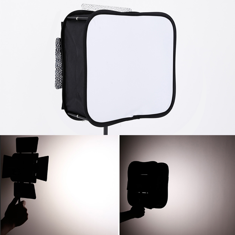 YONGNUO foto estudio plegable Softbox difusor para Yongnuo YN300 III YN300Air YN600 YN900 Panel LED Luz de vídeo