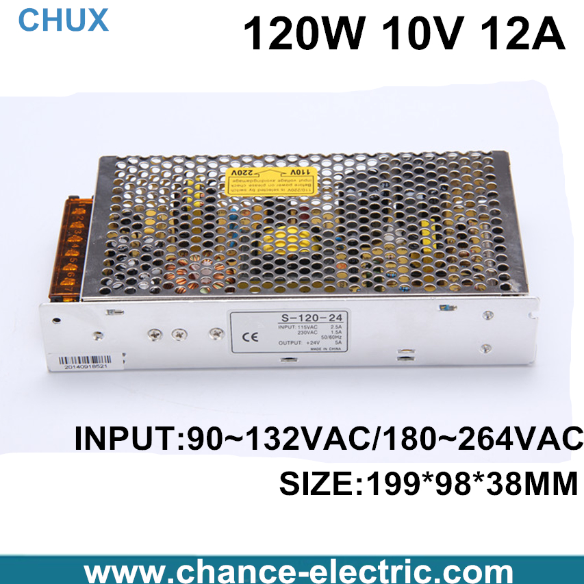 цена на LED luminous characters 10v 12A switching power supply 120W Switching Power Supply(S-120W-10V)