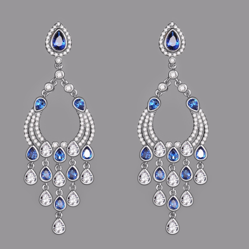 Kivn womens fashion jewelry long dangle cz cubic zirconia chandelier kivn womens fashion jewelry long dangle cz cubic zirconia chandelier bridal wedding earrings mothers birthday christmas gifts in drop earrings from jewelry arubaitofo Images