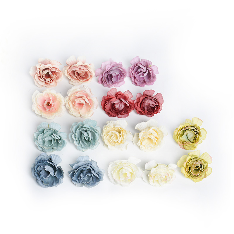 10pcs/lot Silk Roses Artificial Flowers For Wedding And Home Decorations 7