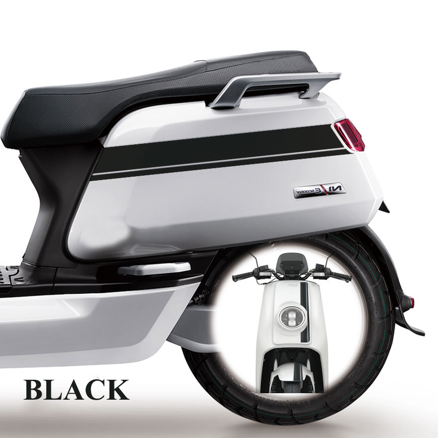 Niu Electric Scooter Limited Edition Stickers N Series Striped Flower Motorcycle Modified Reflective Personalized Decoration
