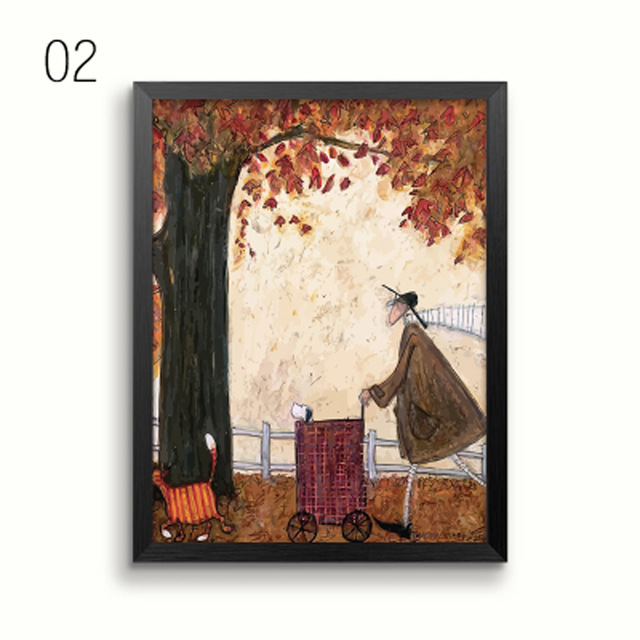 HTB1qeb4JKuSBuNjSsziq6zq8pXaV Gohipang Happy Family Abstract Love Canvas Painting Vintage Posters Prints Scandinavian Nordic Wall Art Picture For Bedroom Home