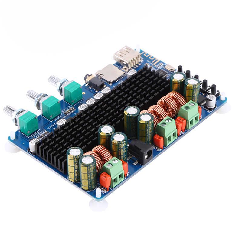 DC 12V 24V TPA3116 50 Вт + 50 Вт 100 Bluetooth USB TF декодер 2,1 канальный цифровой усилитель мощности плата мини-усилителя Поддержка MP3 модуль