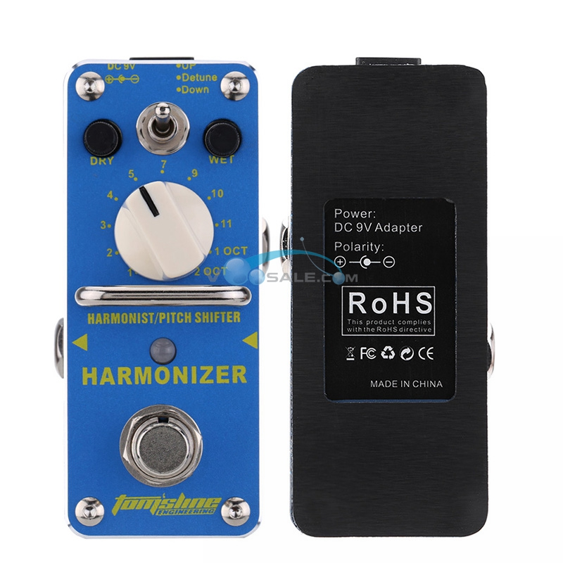 AHAR 3 Harmonizer Harmonist Pitch Shifter Electric Guitar Effect Pedal Aroma Mini Size True Bypass Aluminium