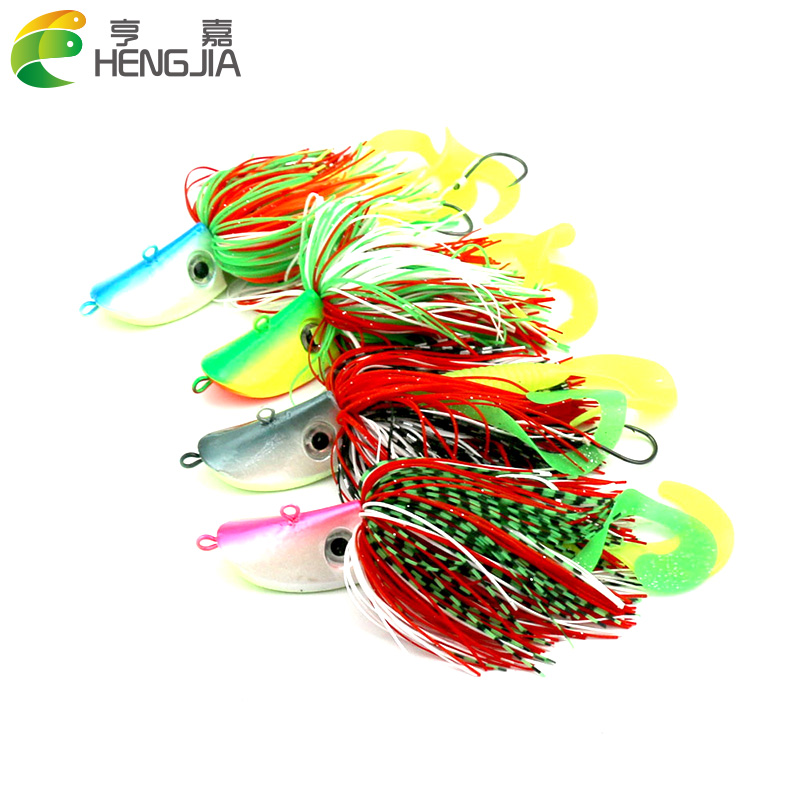 10pcs/lot 80g mixing colors Bigger Lead Head Hook with soft bait Jig Head Hook Soft Bait Lead Fishing Tackle Accessories