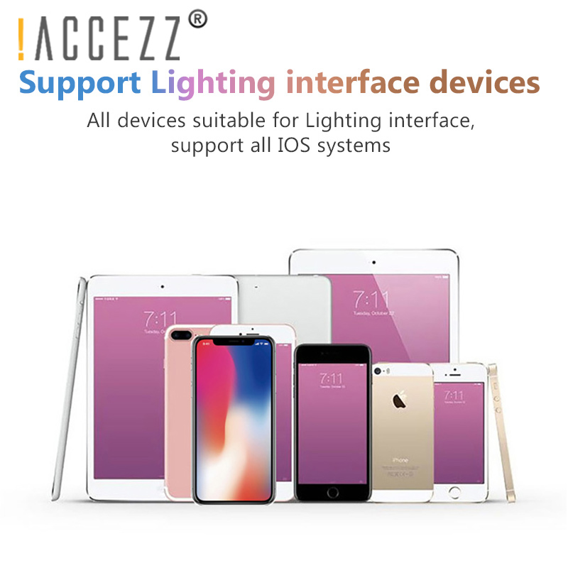 Image 3 - !ACCEZZ 2 in 1 Lighting Charger Listening Adapter For iphone X 7 Charging Adapter 3.5mm Jack AUX Splitter adaptador For iphone-in Phone Adapters & Converters from Cellphones & Telecommunications