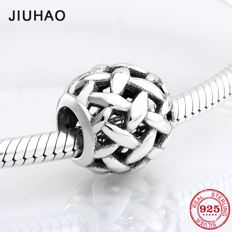 2018 fashion 925 Sterling Silver hollow out wire side beads Fit Original Pandora Charm Bracelet Jewelry making