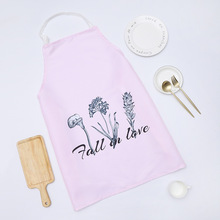 1 Ps Chic Flower Pattern Unisex Cooking Dining Kitchen BBQ Restaurant Cleaning Waterproof Waitress Housework Aprons Dropshipping