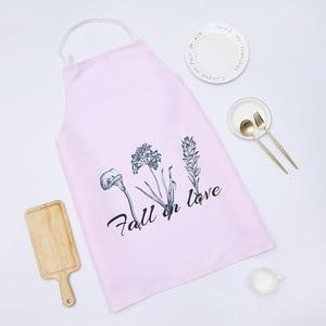 Image 1 - 1 Ps Chic motif de fleurs unisexe cuisson à manger cuisine barbecue Restaurant nettoyage étanche serveuse ménage tabliers livraison directe