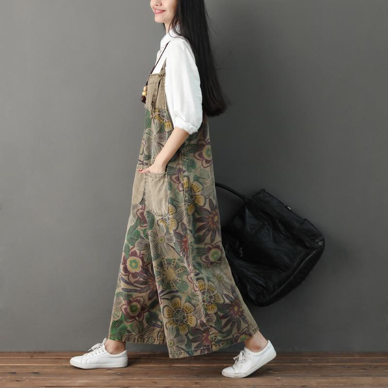 2019 Jerséis Pierna Y De Femme Tamaño Jean Ancho Mezclilla Verano Prendas Primavera La Overoles Plus Impresión Coreano Mujeres Las Algodón Casual 2 Para 1 AHqtwxvf