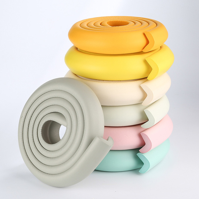 2m New Baby bumper strip Baby Safety Corner protector Glass Table Edge Corner Guards Cushion Strip with Sticker YYT238