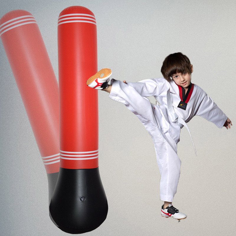 1.5m Inflatable Punching Bag Column Stand Fitness Kick