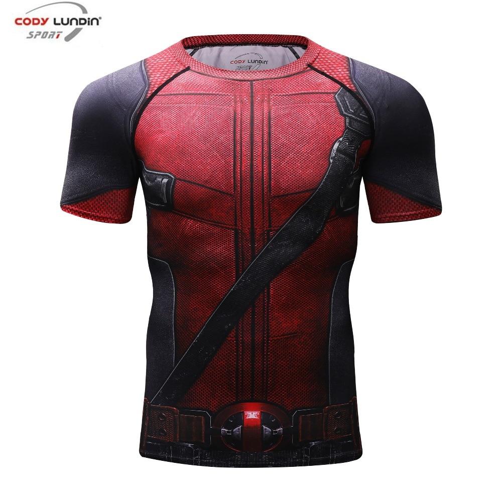 Deadpool 2 3D Impresso camisetas Homens Camisa De Compressão 2018 New Fun Quadrinhos Deadpool Cosplay Traje de Manga Curta Tops Para masculino