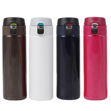 500ml Double Wall Stainless Steel Thermos Cup Bounce Cover Coffee Portable Travel Vacuum Flask Insulated Bottle
