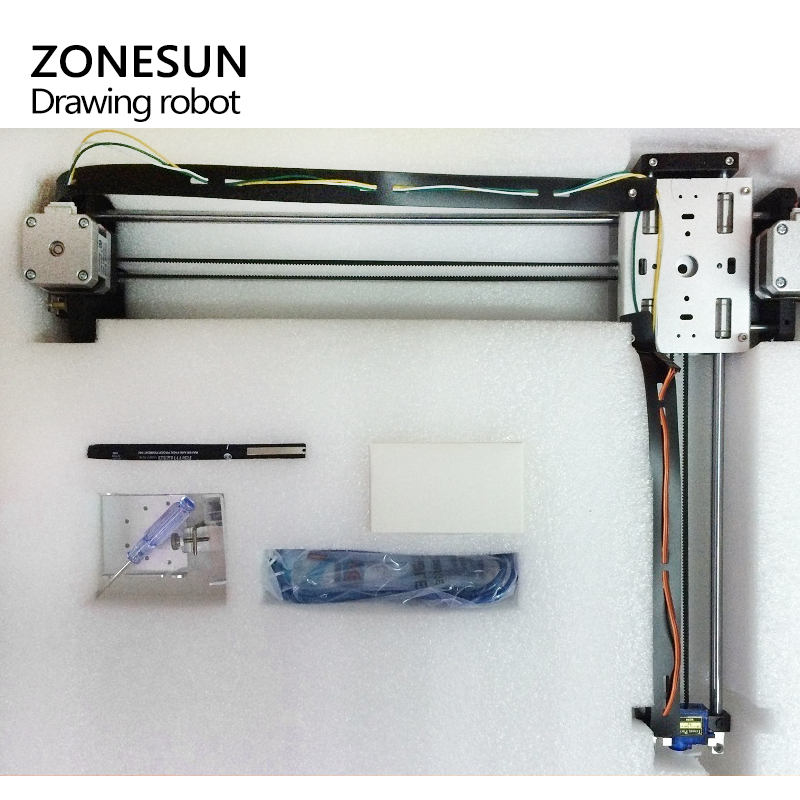 US $241 2 10% OFF|ZONESUN Draw Masters Lettering Robot XY plotter Drawing  Robot kit X Y axis Writing Robot Support Laser Moduel Tool-in Wood Routers