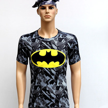 Mans Flower bats T Shirts Short Sleeve High Elastic Fast Dry Tops Super Hero Shirts Water Proof Sport Riding Outdoor Tops