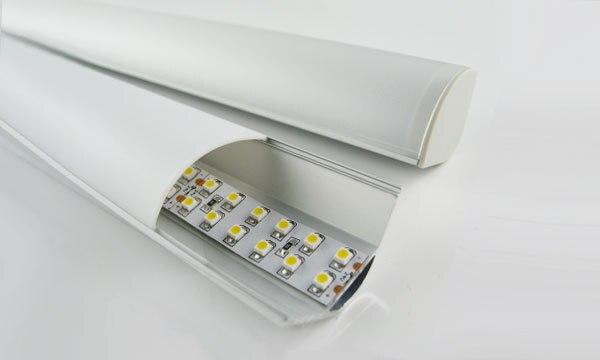مشخصات نصب و راه اندازی 0-300cm آلومینیوم گوشه MAXI LED با درب های انتهایی و سرمازدگی ، اوپال و شفاف ، حمل و نقل رایگان