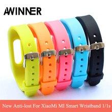 New Anti-lost For Xiaomi Mi band Smart Wristband Silicone Replace Belt Strap Mi Band Bracelet For MI Smart Wristband 1/1s
