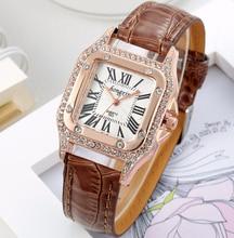 2017 Fashion Square Reloj de Pulsera de Las Mujeres Señoras de Los Relojes de Marca de Lujo Famoso Reloj de Cuarzo Mujer Reloj Relogio Feminino Montre Femme