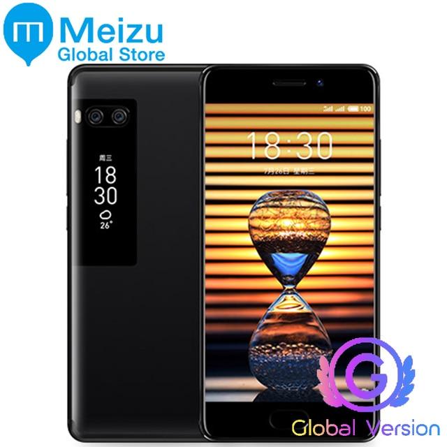 """Оригинальный Meizu Pro 7 плюс глобальная версия 4 г LTE 6 ГБ 64 ГБ MTK helio X30 Octa core 5.2 """"1080 P AMOLED Экран двойной сзади мобильного телефона"""