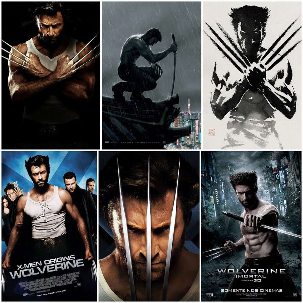 Wolverine posters retro kraft X -Men superhero movies decorative painting wall sticker