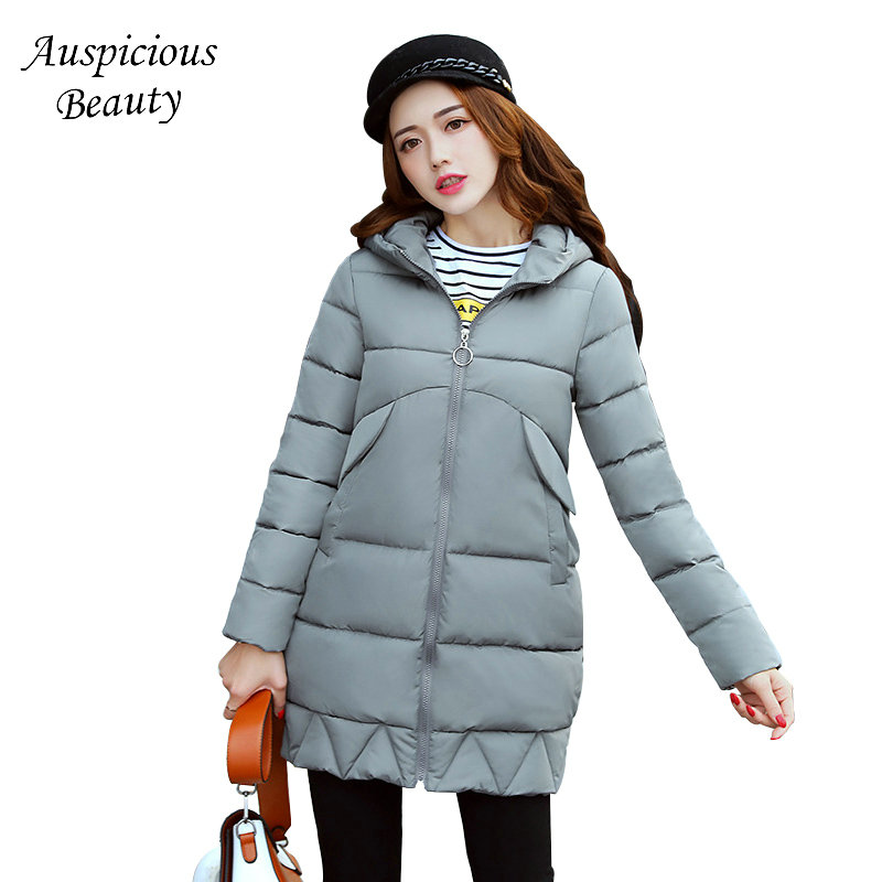 Women Wadded Jackets 2017 Female New Winter Hooded Warm Cotton Parka Casual Slim Ladies Outerwear Winter Jacket Coat CXM14 muxu new autumn winter coat women basic jacket coat female slim hooded cotton coats casual silver long sleeve ladies jackets