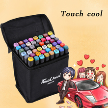 цена на Touch Cool Alcohol Drawing Markers Set Oily Ink Brush Pen Dual Head Sketching Art Marker Manga Copic 30/40/80 Colors Stationery