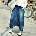 Mulheres Causal Cruz calças Jeans Verão 2016 Outono Cintura Elástica Calças Jeans Feminina Branqueada Calças Jeans Feminino