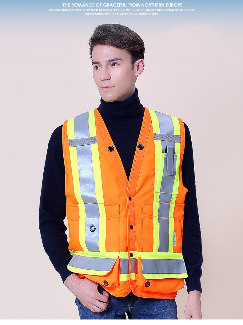 New Style Popular Reflective Safety Thicken Oxford Vest Worker Clothing multi colored long sleeve sweater