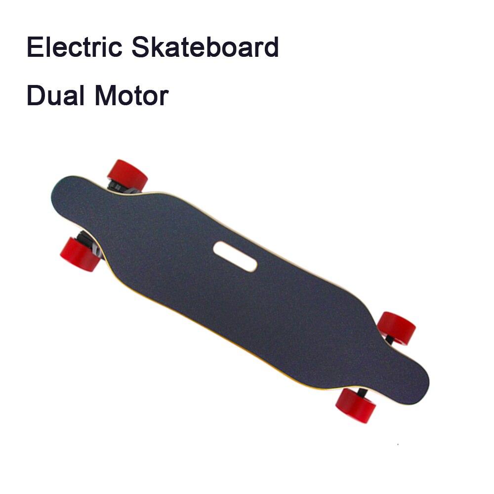 Super Skate Elétrico & Cintos de Longboard T-Sombra Luzes LED 900 Watts Dupla Motores com Placa de Controle Remoto Sem Fio placa