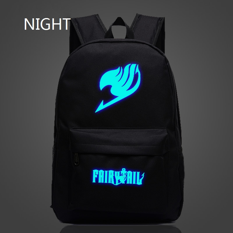 New Flash Japan Anime Printing Backpacks 2016 Cute Fairy Tail Backpack School Bag For Teenagers Luminous Galaxy Nylon Backpack