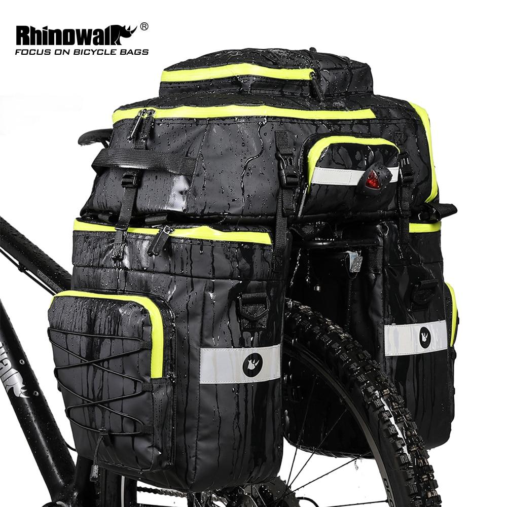 RHINOWALK Mountain Road Bicycle Bike 3 in 1 Trunk Bags Cycling Double Side Rear Rack Tail