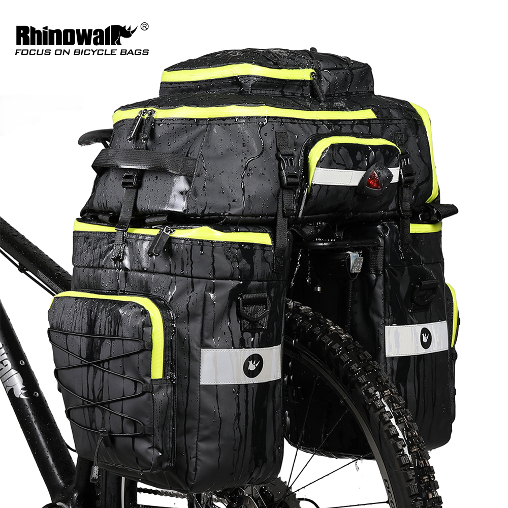 RHINOWALK montagne route vélo vélo 3 en 1 sacs de coffre cyclisme Double face arrière porte-bagages siège arrière sac à bagages 70L