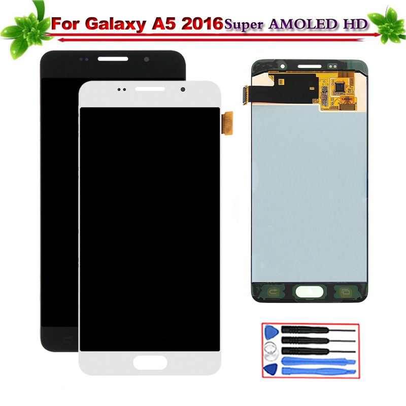 5.2 for SAMSUNG Galaxy A5 2016 A510 A510FD A510F A510M Touch Screen Assembly Replacement Super Amoled Can Adjust Brightness5.2 for SAMSUNG Galaxy A5 2016 A510 A510FD A510F A510M Touch Screen Assembly Replacement Super Amoled Can Adjust Brightness