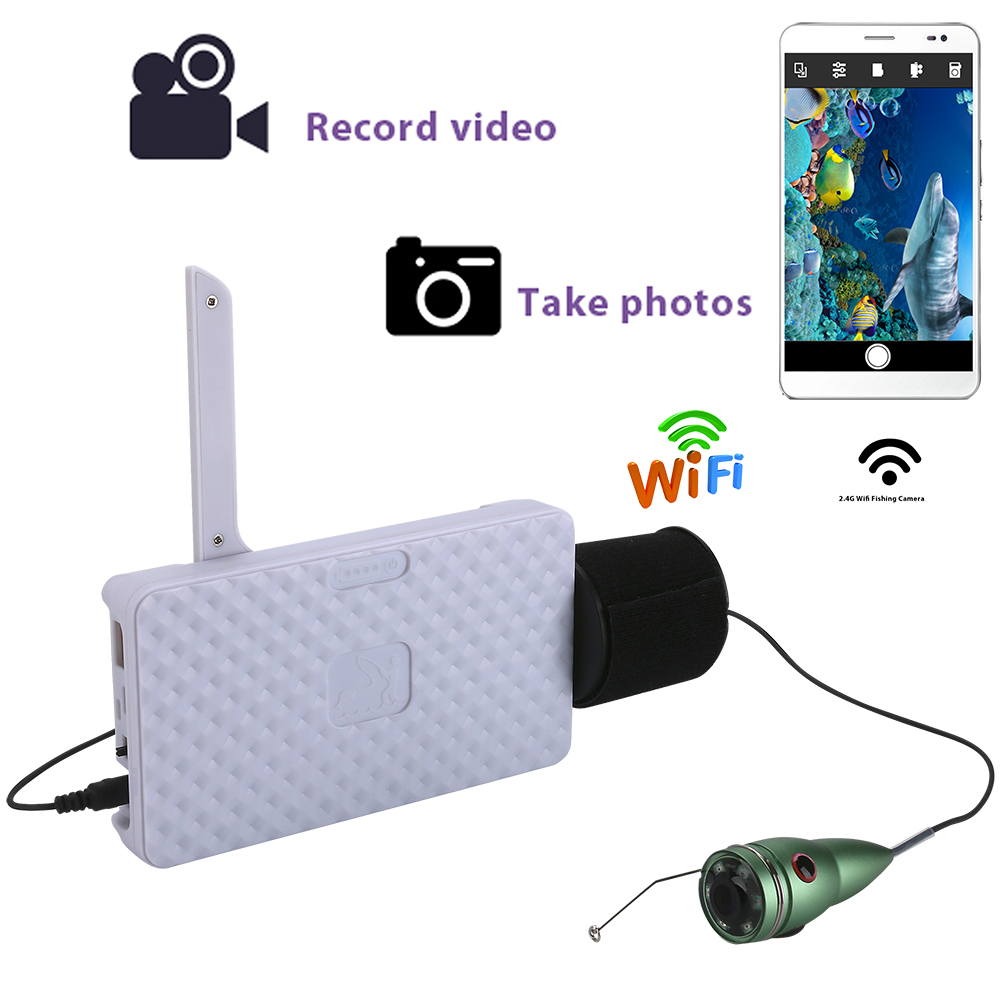 720P Wifi Wireless 15M Underwater Fishing Camera Video Recording For IOS Android APP Supports Video Record Aluminum alloy