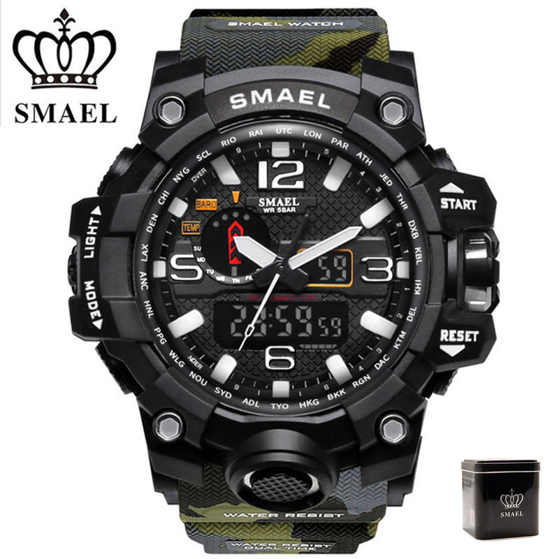 все цены на SMAEL Military Watch Men Digital-watch G Style Fashion Sport Watches Waterproof LED Wristwatches Mens Camo Army Clock erkek saat
