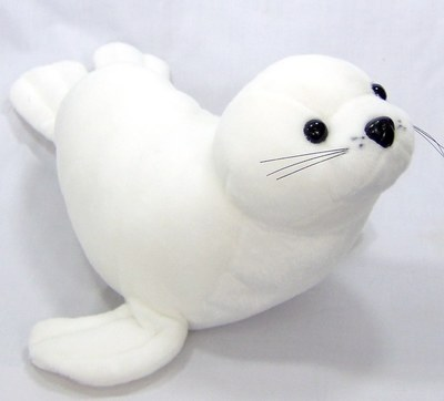 купить large 60cm white seal stuffed plush toy doll soft throw pillow birthday gift w0647 по цене 2486.67 рублей