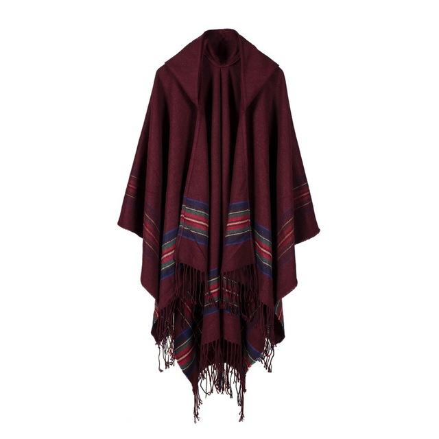 Últimas Novedades de Alta Calidad de la Cachemira A Mantener Caliente Invierno Mujeres Bufanda Grande Del Tamaño Poncho Pashmina Accesorios de Moda