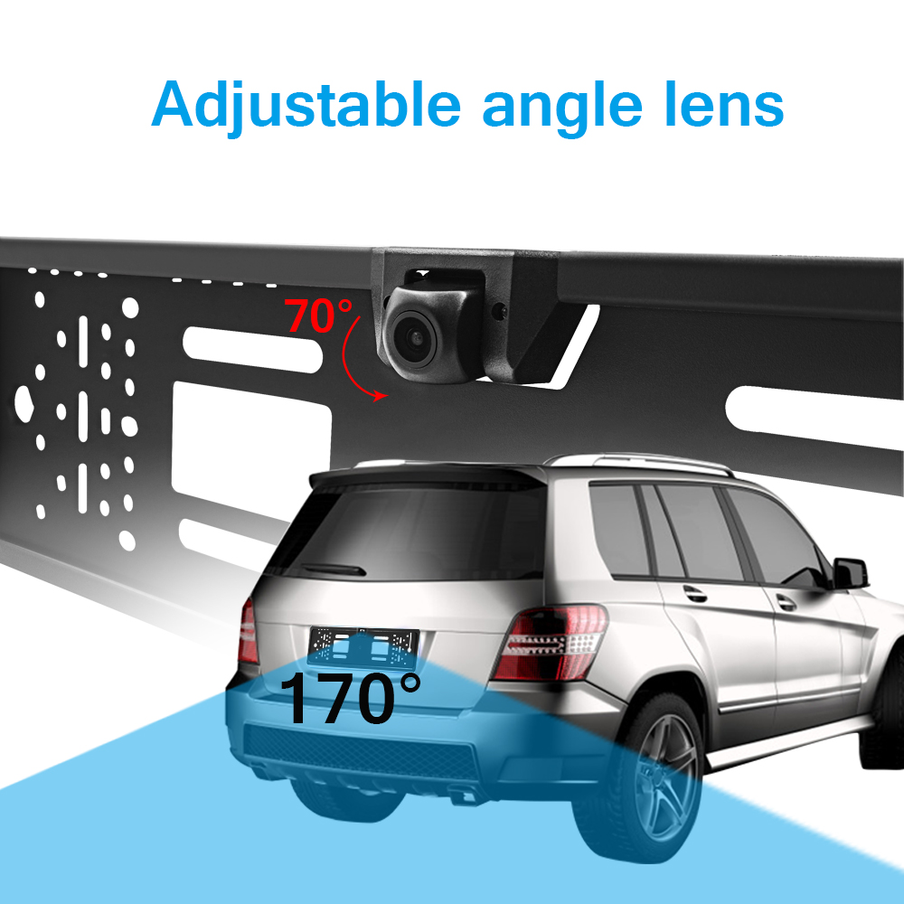 Image 2 - EU HD Camera License Plate Frame Car DVR Wifi Backup Parking Reverse Rear View Camera Vehicle Auto Security Camera Night Vision-in Vehicle Camera from Automobiles & Motorcycles