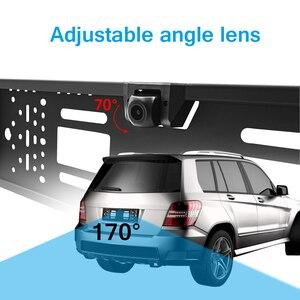 Image 2 - Автомобильный видеорегистратор с HD камерой, рамка для номерного знака ЕС, Wi Fi, дублирующая для парковки заднего вида, камера заднего вида, автомобильная камера безопасности с ночным видением