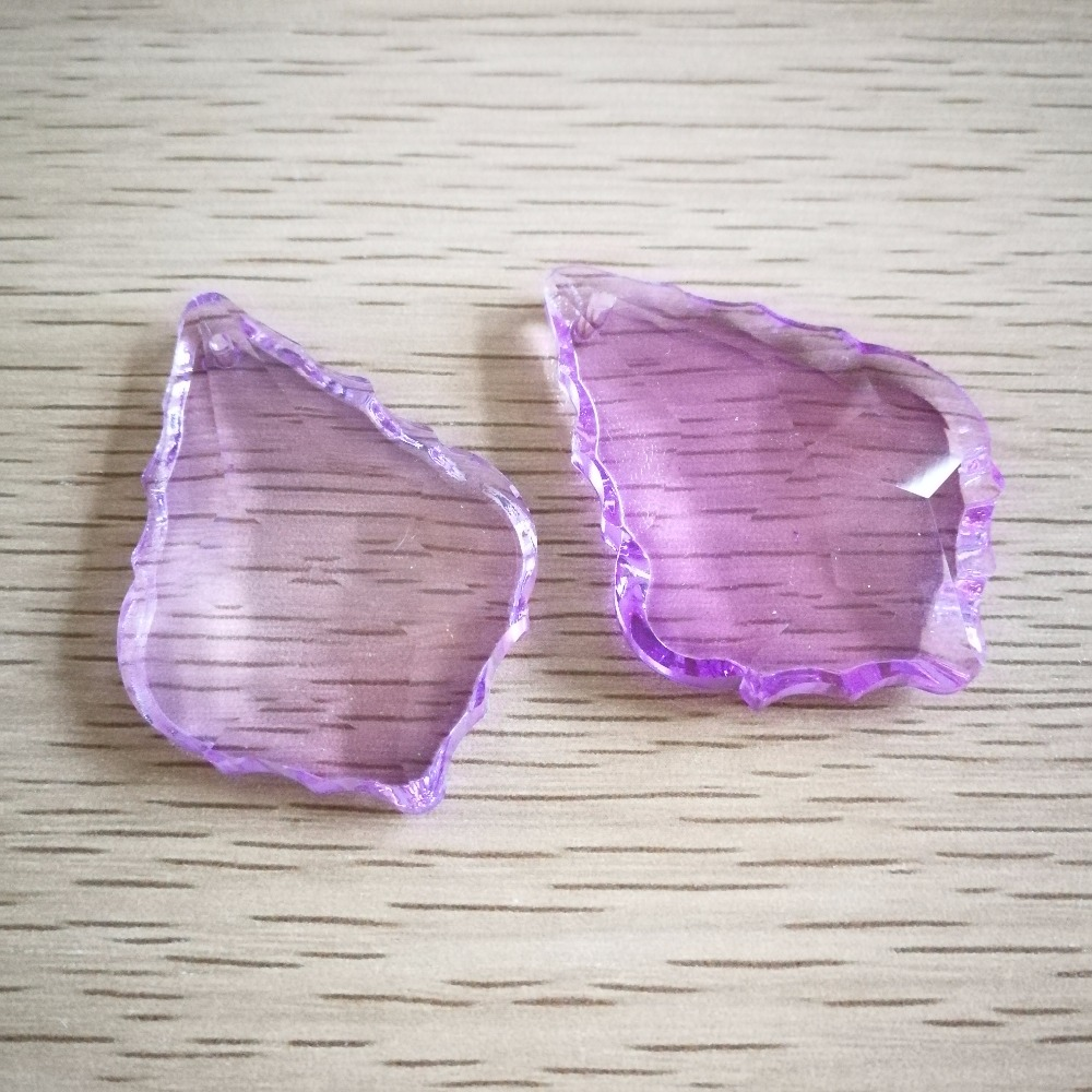 Glass Crystals For Chandeliers Lilac hanging drop 50mm 50 pieces Lilac