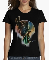 Summer Surprise Price T Shirt Women Loki Art Short O Neck Character Knitted Funny S XXXL
