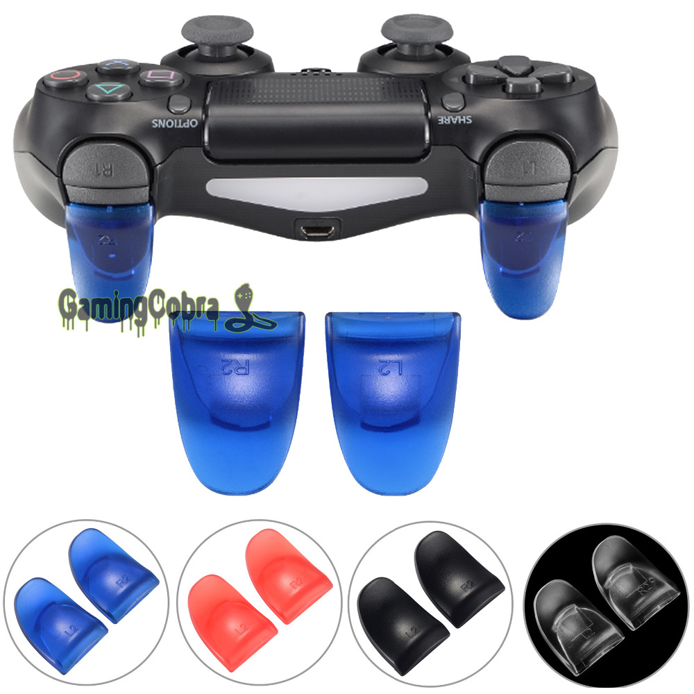 Controller R2 L2 Button Kits Extended Trigger Cover Extender For CUH-ZCT1 CUH-ZCT2 JDM-001 JDM-040 PS4 /PS4 Slim Pro