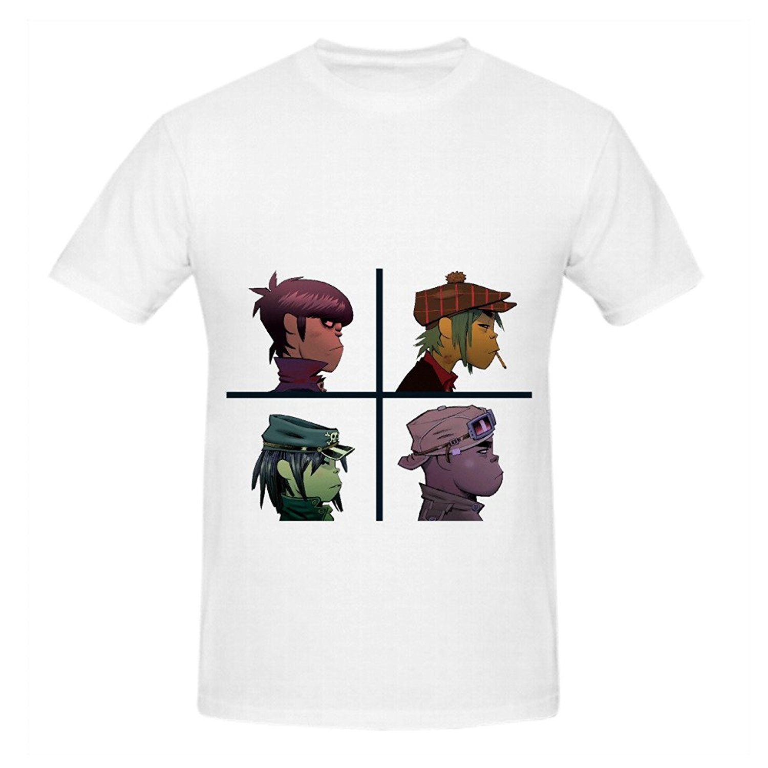 Gorillaz Demon Days Soundtrack Mens Crew Neck Music Tee Shirts