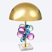 Nordic современный минималистский настольные лампы для гостиной белый стеклянный шар настольная лампа железный штатив молочный Круглый Шар Н