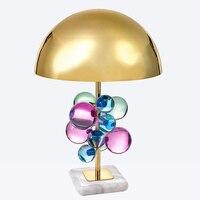 Nordic современный минималистский настольные лампы для гостиной белый стеклянный шар света таблицы гладить штатив молочно круглый шар настол
