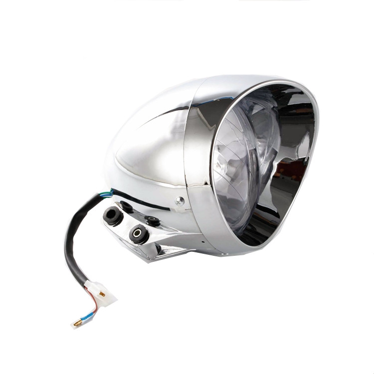 35W Motorcycle Custom Low High Beam Headlight For Honda Yamaha V Star Kawasaki ZX Ninja Suzuki C90 Harley Dyna Road King Softail