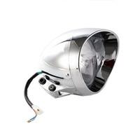35W Motorcycle Custom Low High Beam Headlight For Honda Yamaha V Star Kawasaki ZX Ninja Suzuki C90 Harley Dyna Road King Softail